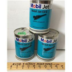 GR OF 3 MOBIL JET CANS, 1 U.S. QT