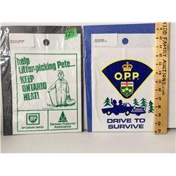 GR OF 2 LITTER BAGS FROM EARLY 70'S  OPP, BP
