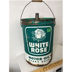 WHITE ROSE, 5 GAL HEAVY DUTY GREASE PAIL