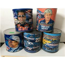GR OF 5 MAXWELL HOUSE/NASCAR COFFEE CANS