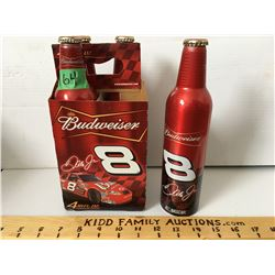 GR OF 4 BUDWEISER/DALE JR BOTTLES W/CARRIER