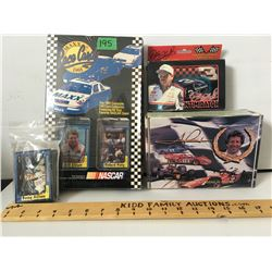 GR OF 4 PKGS,  NASCAR COLLECTOR CARDS, PLAYING CARDS