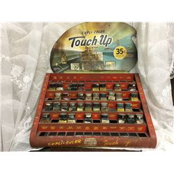DUPLI-COLOR PRODUCTS, AUTO TOUCH UP PAINT RACK W / BOTTLES & SIGN UNATTACHED