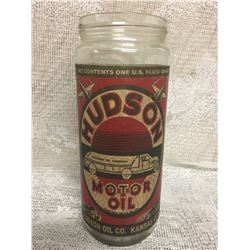 HUDSON, MOTOR OIL, 1 QT, GLASS