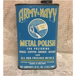 ARMY & NAVY, METAL POLISH, 16 OZ TIN
