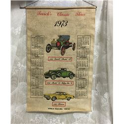 BUICK CLASSIC THREE 1973 CLOTH CALENDAR