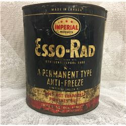 IMPERIAL PRODUCTS, ESSO-RAD ANTI-FREEZE, 1 IMP GAL TIN