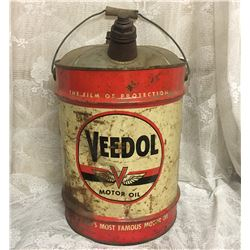 VEEDOL, MOTOR OIL, 5 GAL CAN