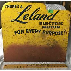 "LELAND ELECTRIC MOTORS SIGN, SST, 20"" X 22"""