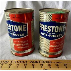GR OF 2 PRESTONE 1 QT TINS, FULL