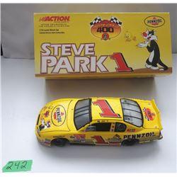 NASCAR 1:24 SCALE DIECAST, STEVE PARK #1 CAR, NEW IN BOX