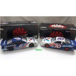 GR OF 2 NASCAR 1:24 SCALE DIECAST, MARK MARTIN & JOHNNY BENSON CARS, W/BOX