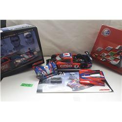 NASCAR 1:18 SCALE DIECAST, CITGO/ROLEX CAR W/TIRE PIECE, BOX