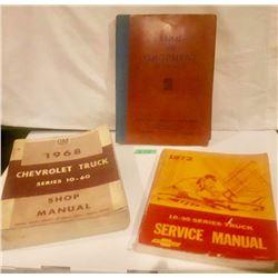 GR. OF 3 BOOKS, 1968 &1972 GM SERVICE MANUALS, 1936 GM TOOL CATALOG