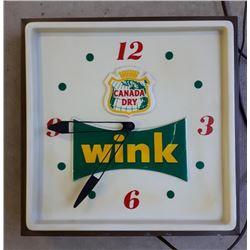 WINK CLOCK, ILLUMINATING - WORKING