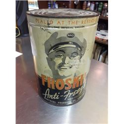 MONTREAL PRODUCTS CO, FROSKIL ANTI-FREEZE, 1 IMP GALLON - UNCOMMON SIZE