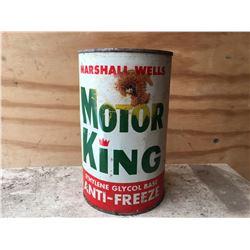 MARSHALL WELLS, MOTOR KING, ANTI-FREEZE, 1 QT SIZE