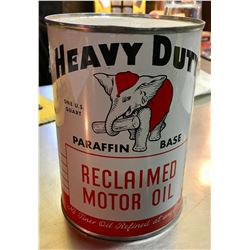 HEAVY DUTY, RECLAIMED MOTOR OIL CAN, 1 US QUART
