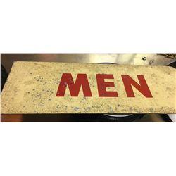 MENS WASHROOM DOUBLE SIDED FLANGE SIGN