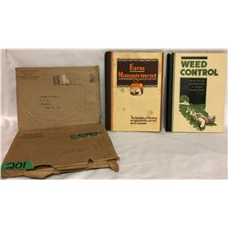 GR OF 2, IMPERIAL OIL BOOKS. 1930 WEED CONTROL & 1931 FARM MANAGEMENT