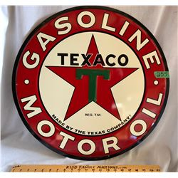 """SST TEXACO EMBOSSED SIGN, 24"""", REPRO"""