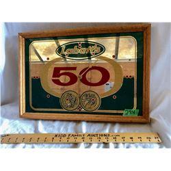 LABATT'S 50 MIRROR/CLOCK