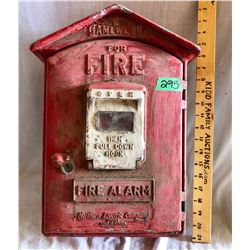 ORIGINAL NORTHERN ELECTRIC FIRE ALARM BOX, EMPTY