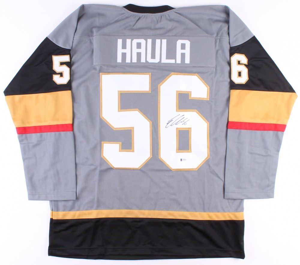 best service 4b8b8 b4383 Erik Haula Signed Golden Knights Jersey (Beckett COA)