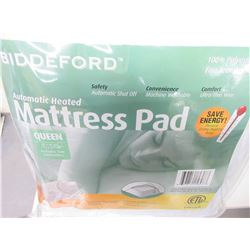 New Queen Automatic Heated Mattress Pad With 2 Controllers