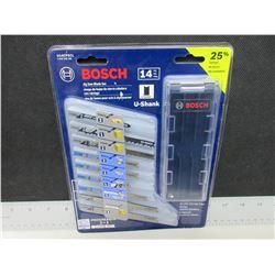 New Bosch 14 piece Jig Saw Blades with storage case