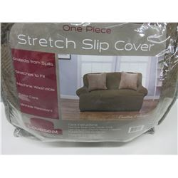 """One piece Stretch Slip cover  fits Loveseat up to 68"""" wide"""