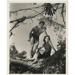 "Johnny Weissmuller (3) photographs including 1-as ""Tarzan""."