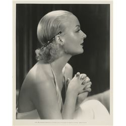 Carole Lombard keybook portrait photograph.