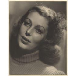 Loretta Young oversize portrait photograph.