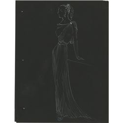 Emily Santiago (8) behind-the-scenes photos and (2) costume sketches of Rita Hayworth from Salome.