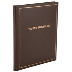 The Little Drummer Girl custom (20) photograph album from director George Roy Hill to Bill Reynolds.