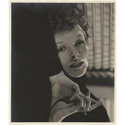 Katharine Hepburn oversize portrait photograph for Sylvia Scarlett by Ernest A. Bachrach.