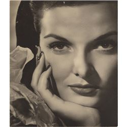 Jane Russell oversize exhibition photograph for The Outlaw by Ernest A. Bachrach.