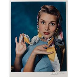 Janet Leigh color oversize exhibition photograph by Ernest A. Bachrach.