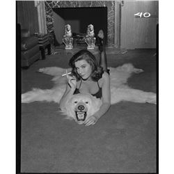 Tina Louise (4) lingerie negatives from Burke's Law.
