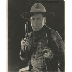 William S. Hart oversized signed photograph.