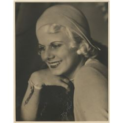 "Jean Harlow oversize custom portrait photograph inscribed, ""Mother""."