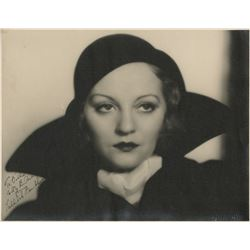 Tallulah Bankhead signed oversize photograph by Eugene Robert Richee.