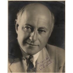 Cecil B. DeMille signed oversize photograph.