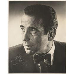 Humphrey Bogart signed photograph.