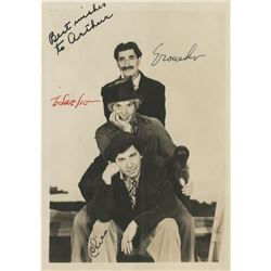 The Marx Brothers signed photograph.