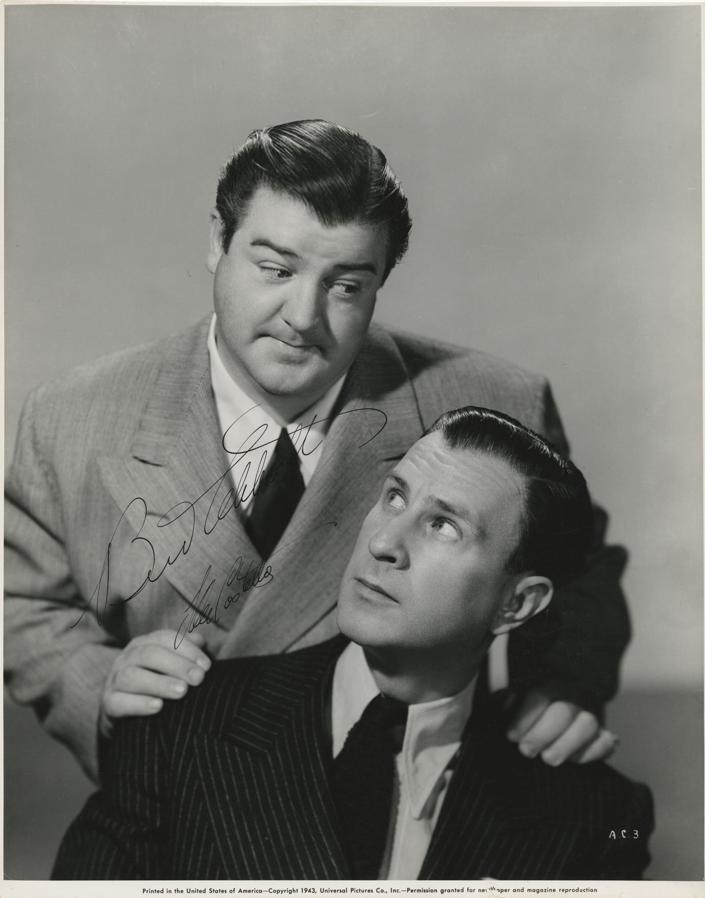 Bud Abbott and Lou Costello si...