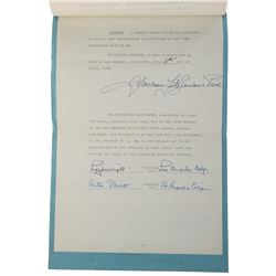 "Maureen O'Hara (50+) signed bank and ephemera, including Will signed ""Maureen Fitzsimons Price""."