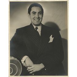 Tyrone Power (2) oversize signed photographs.
