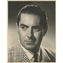 Tyrone Power signed oversized photograph.